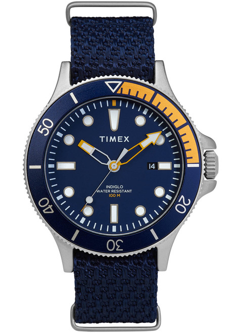 Timex Allied Coastline Indiglo Blue Yellow (TW2T30400)