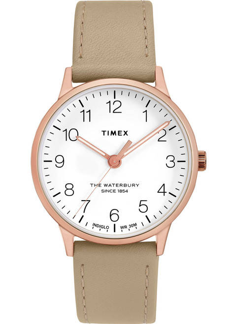 Timex Waterbury Classic 36mm Rose Gold Natural (TW2T27000)
