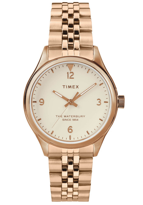 Timex Waterbury 34mm Rose Gold SS (TW2T36500)