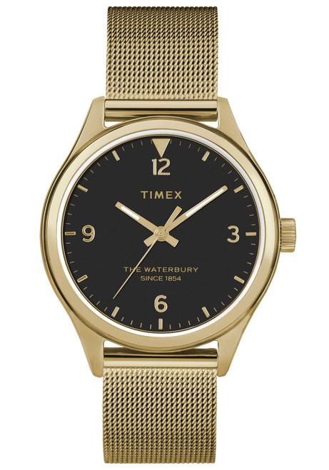 Timex Waterbury 34mm Black Gold Mesh (TW2T36400)