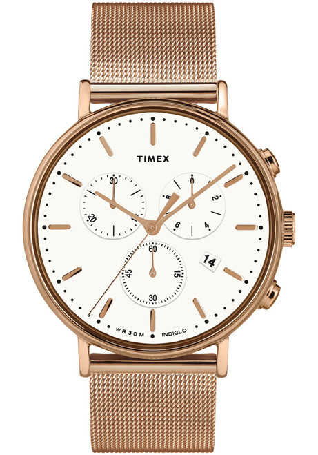 Timex Fairfield Chrono Rose Gold Mesh (TW2T37200)