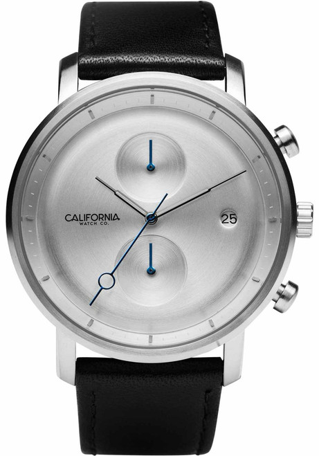 California Watch Co. Golden Gate Chrono Leather Black Silver (GLG-1111-03L)