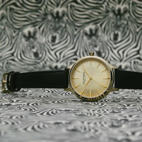 California Watch Co. Laguna 34 Leather Black Gold (LGW-5555-03L)
