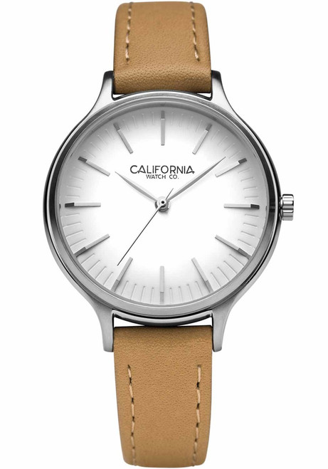 California Watch Co. Laguna 34 Leather Natural White (LGW-1101-20L)