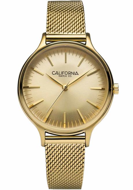 California Watch Co. Laguna 34 Mesh All Gold (LGW-5555-05M)