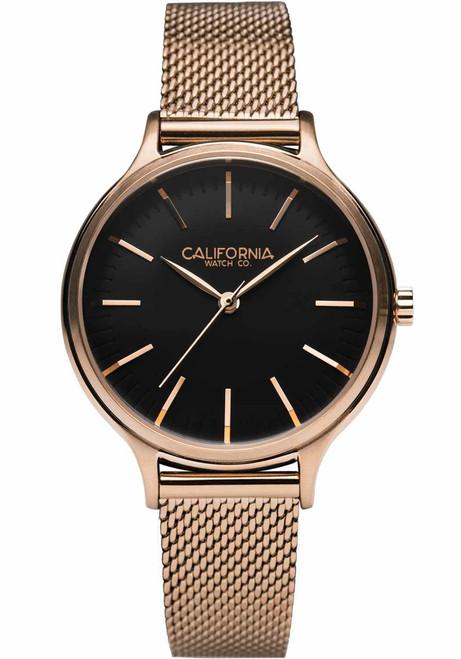 California Watch Co. Laguna 34 Mesh Rose Gold Black (LGW-4434-04M)