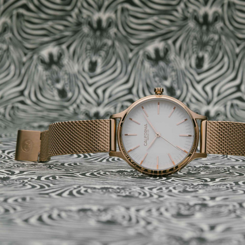 California Watch Co. Laguna 34 Mesh Rose Gold White (LGW-4404-04M)