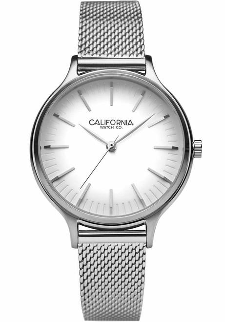 California Watch Co. Laguna 34 Mesh Silver White (LGW-1101-01M)