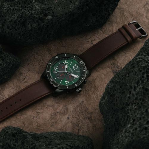 California Watch Co. Mavericks Chrono Leather Dark Brown Green (MVK-2239-13L)