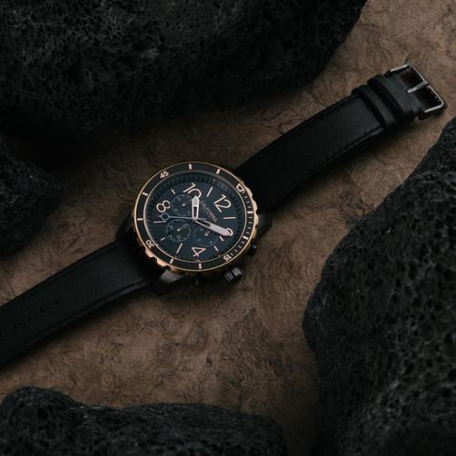 California Watch Co. Mavericks Chrono Leather Gunmetal Rose Gold (MVK-2434-03L)