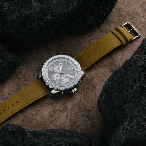 California Watch Co. Mavericks Chrono Leather Sand Gray White (MVK-1110-12L)
