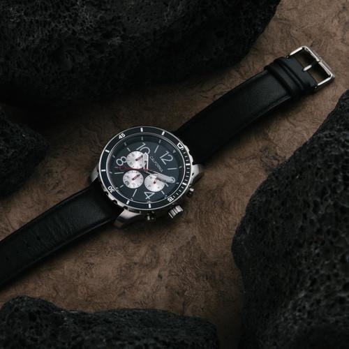 California Watch Co. Mavericks Chrono Leather Silver Black (MVK-1131-03L)