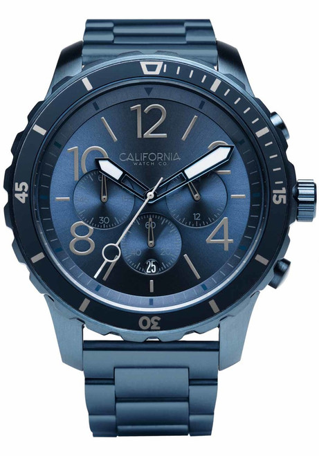 California Watch Co. Mavericks Chrono SS Deep Blue (MVK-7772-07B) front