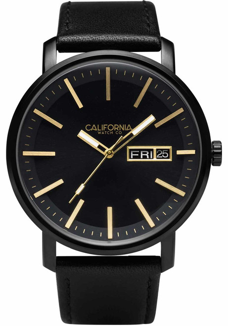 California Watch Co. Mojave Leather All Black Gold (MJV-3335-03L)