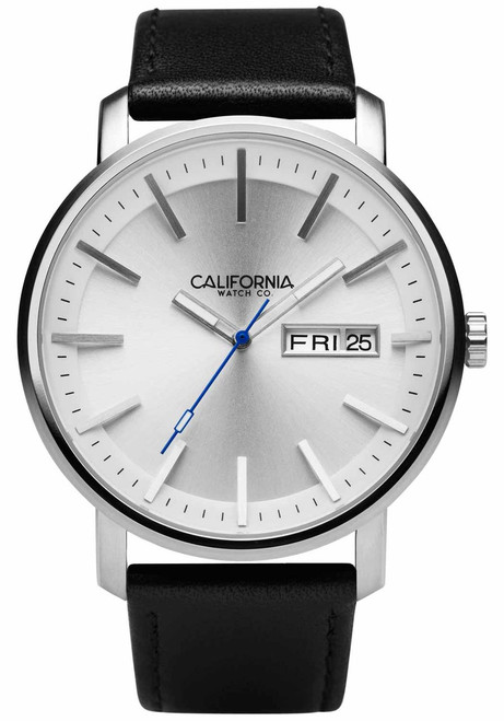 California Watch Co. Mojave Leather Black Silver (MJV-1111-03L)