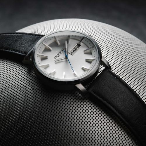California Watch Co. Mojave Leather Black Silver (MJV-1111-03L)