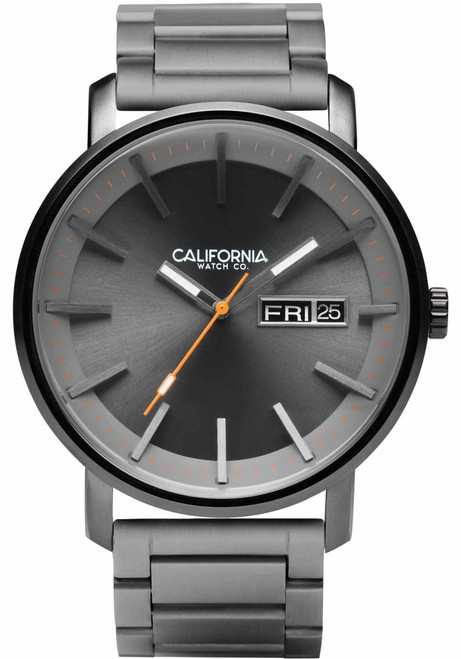 California Watch Co. Mojave SS Gunmetal Orange (MJV-2229-02B)