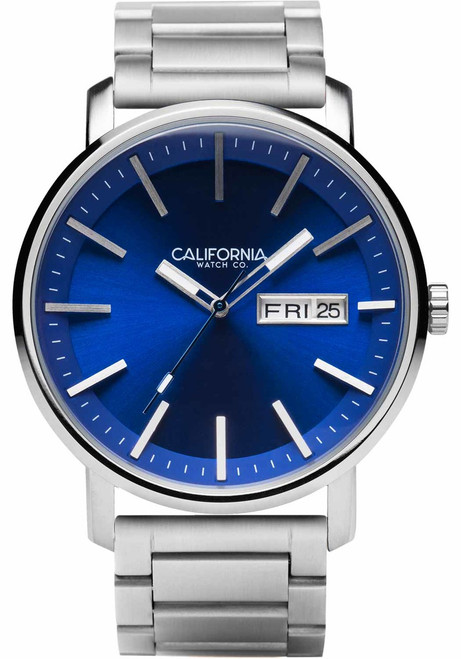 California Watch Co. Mojave SS Silver Navy (MJV-1171-01B)