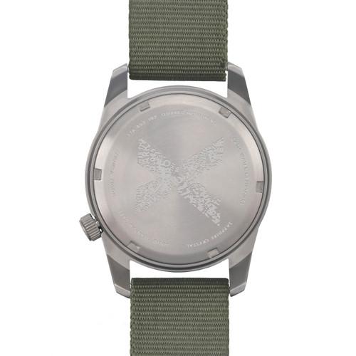 Boldr Venture Jungle Green (BD-VEN-JG) titanium field watch caseback