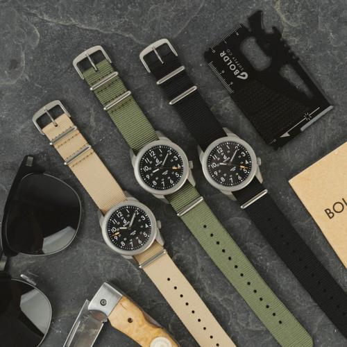 Boldr Venture Jungle Green (BD-VEN-JG) titanium field watch colors