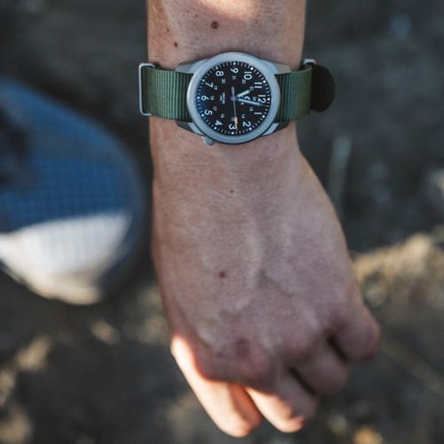 Boldr Venture Jungle Green (BD-VEN-JG) titanium field watch wrist 1