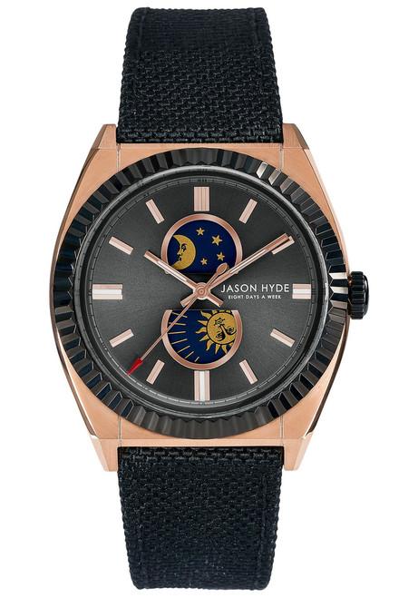 Jason Hyde Lunatico Moonphase Black Rose Gold (JH41006)