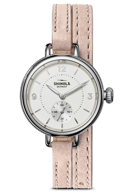 Shinola Birdy 34mm White Blush (S0120141495) double wrap