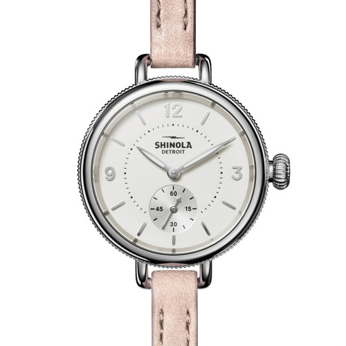 Shinola Birdy 34mm White Blush (S0120141495) frontv