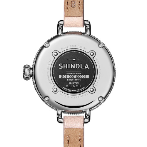 Shinola Birdy 34mm White Blush (S0120141495) back