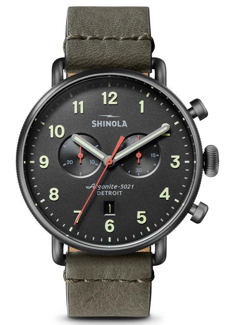 Shinola Canfield Chrono 43mm Gunmetal Black (S0120141498)