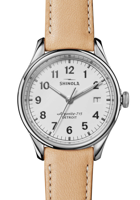 Shinola Vinton 38mm White Tan (S0120141282)