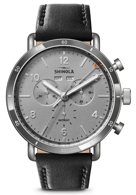 Shinola Canfield Sport 45mm Chrono Silver Black (S0120141500)
