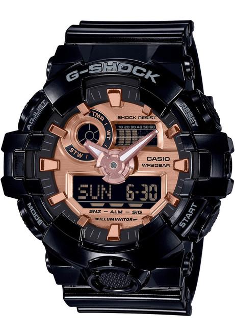 G-Shock GA700 Black Metallic Rose Gold (GA700MMC-1A) front