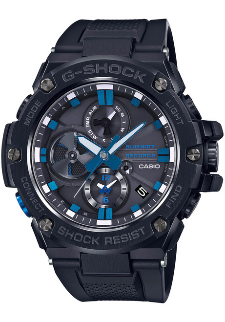 G-Shock G-Steel Connected Blue Note 80th Anniversary Black Blue (GSTB100BNR1A) front