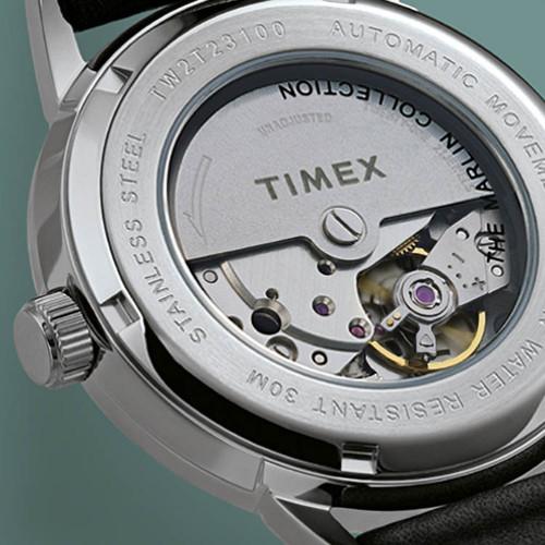Timex Marlin 40mm Automatic Burgundy Silver (TW2T23200)