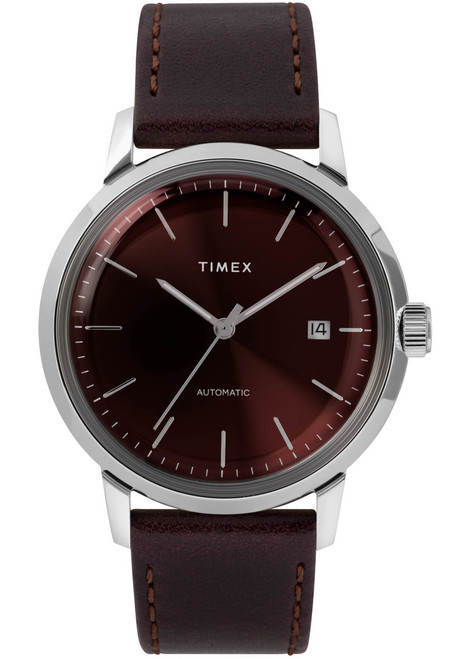Timex Marlin 40mm Automatic Burgundy Silver (TW2T23200) front
