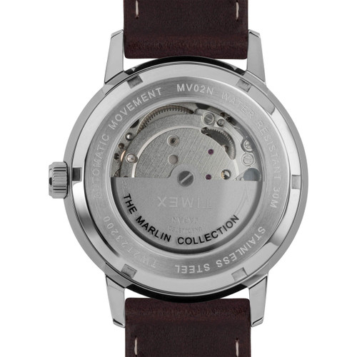Timex Marlin 40mm Automatic Burgundy Silver (TW2T23200) rotor
