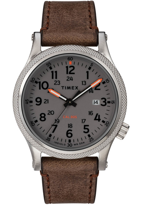 Timex Allied LT Indiglo Brown Grey (TW2T33300) front