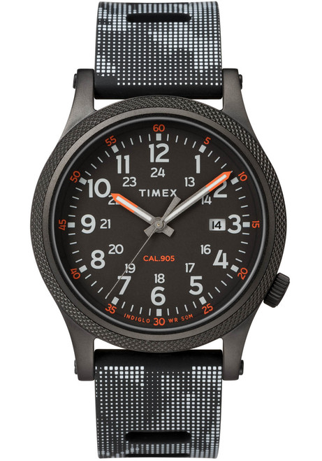 Timex Allied LT Indiglo All Black (TW2T33600) front
