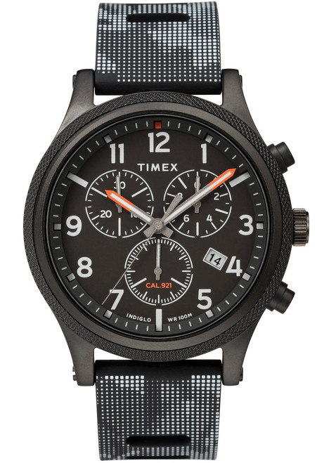 Timex Allied LT Chrono Indiglo All Black (TW2T33100) front