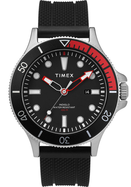 Timex Allied Coastline Indiglo Black Red (TW2T30000) front