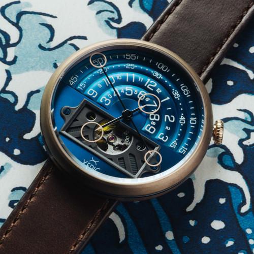 Xeric Halograph II Automatic Bronze Blue Limited Edition (HGA-9977-06L)