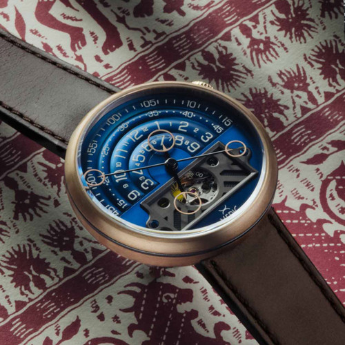 Xeric Halograph II Automatic Bronze Blue Limited Edition (HGA-9977-06L)