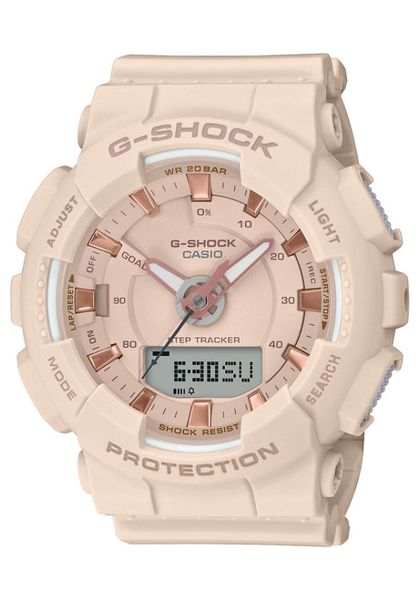 G-Shock GMAS130 S Series Blush Rose Gold (GMAS130PA-4A)