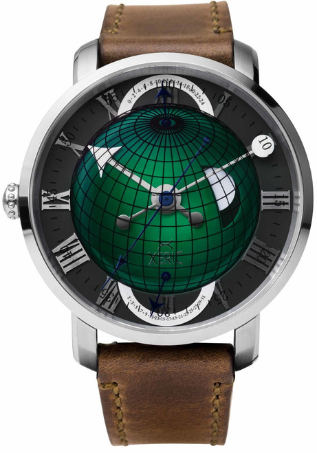 Xeric Atlasphere GMT Green Limited Edition (ASQ-1129-06L) front