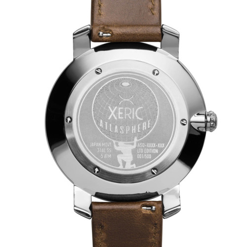 Xeric Atlasphere GMT Green Limited Edition (ASQ-1129-06L) caseback