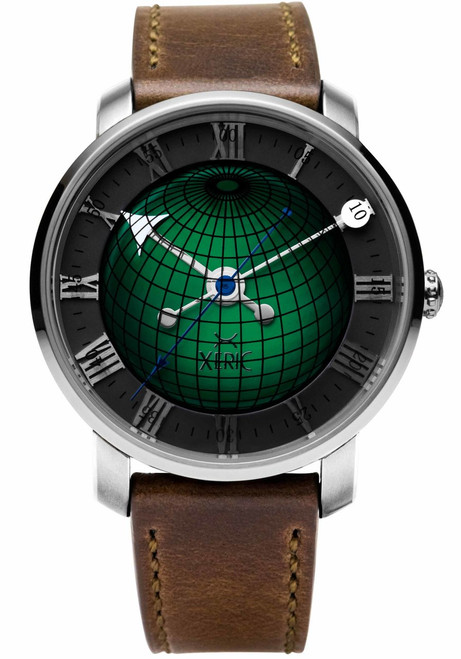 Xeric Atlasphere Automatic Green Limited Edition (ASA-1129-06L) front