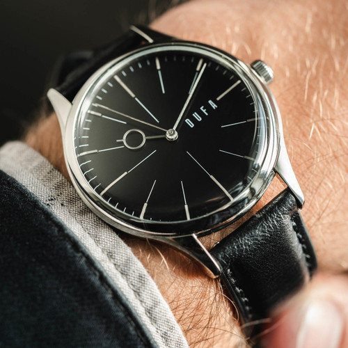 DuFa Weimar Moller Edition Silver Black (DF-9026-01) wrist 1
