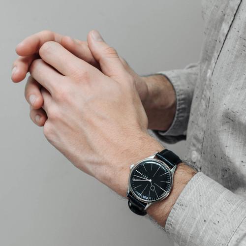 DuFa Weimar Moller Edition Silver Black (DF-9026-01) wrist