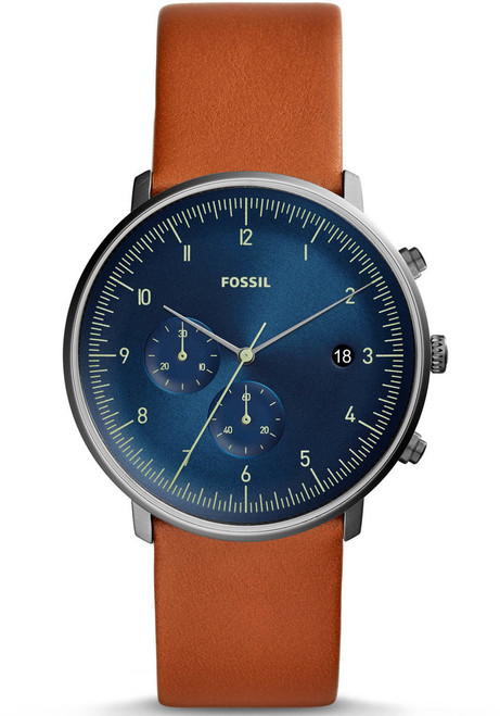 Fossil FS5486 Chase Chronograph Blue Brown (FS5486) main